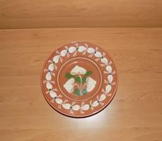 Sárospataki mázas kerámia falitányér 22,5 cm (n)