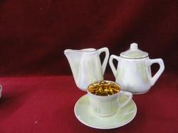 FS - STAS 2337-60 típusszámú porcelán kávéskészlet 14 darabos. Belseje dúsan aranyozott.