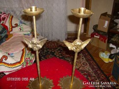 Kulonleges vintage rez gyertyatartok bronz angyalokal