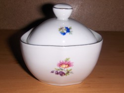 Hollóházi porcelán cukortartó (20/d)