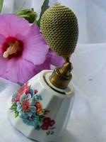 Régi Genuine porcelán parfüm szóró, parfüm tároló, gyűjtői