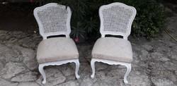 Provence barokk nádbetétes szék párban