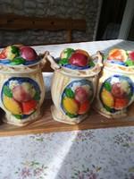 3db gyümölcs mintás fűszertartó