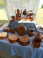 Hatalmas réz főző és sütemény gyűjtemény eladó 21 DARABÓL ÁLL