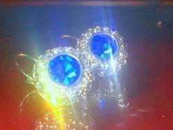 London Kék Francia kapcsos Tibeti ezüst Fülbevaló