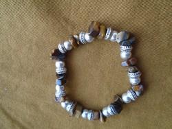 Gumis tigrissen tibeti ezüst kiegészitésekel új termék igényes darab