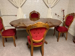 Neobarokk étkező 4 db székkel