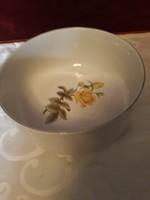 Zsolnay sárgarózsás    köretes  tál