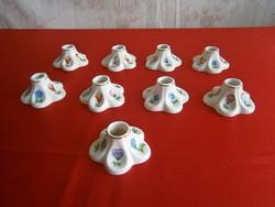 Eredeti kézzel festett kalocsai porcelán egy szálas gyertyatartó