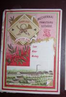 Nagyon régi litho címke szövőde gyár, nemzeti színű szalag