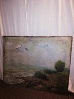 Antik jelzett Balatoni festmény!