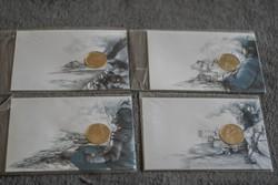2002 Irodalmi érmés sor egyben János vitéz, Ludas Matyi, Pál utcai fiúk, Toldi - 4 bliszter