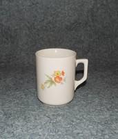 Régi Zsolnay porcelán virágmintás bögre (9/d)
