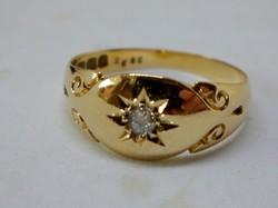 Csodálatos antik gyémántköves 18kt arany gyűrű