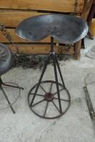 Retro Eredeti Veterán Traktor szék Loft forgószék ipari industrial kis vas bútor vintage