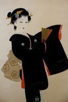 Gésa - Japán akvarell festmény (falitekercs) eladó