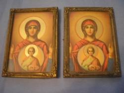U1 antik szentképek,réz keretben üveglaposak