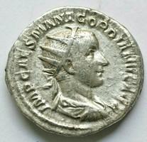 Gordianus Antoninianus Szép állapotban 22 mm 4.06g