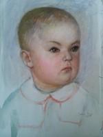 Tallós Ilona: gyermek portré 1959
