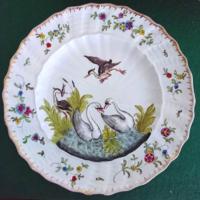 Herend 19. század hattyús tányér 23 cm
