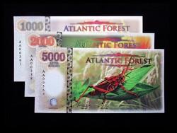 UNC - 1000-2000-5000 DOLLÁROS - ATLANTIC FOREST