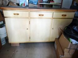 Népi konyhaszekrény, konyhai kredenc szekrény 160x55 (konyha Vintage kreatív célra)