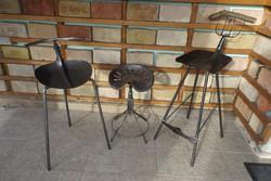 Kovács-Manó alkotás Retro szívlapát Lapát szék Loft ipari industrial vas bútor bárszék vintage