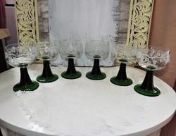 Maratott üvegpohár készlet 6db.