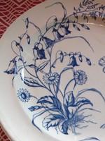 2 db Kék virágos tányér