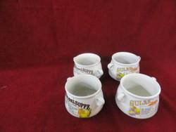 Keleti porcelán leveses csésze, más-más hagymamintával.