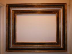 Nívós Reneszánsz stílusú illesztett képkeret pár 120x150 cm. illetve 90 x 120 cm
