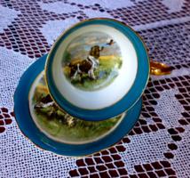 Vadászjelenetes angol teás csésze gyűjteménybe