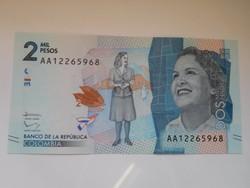 Kolumbia 2000 pesos 2015 UNC