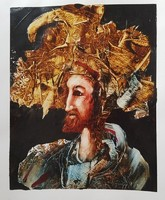 Győrfi András - 34 x 27 cm olaj, akril, papír