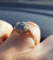 Antik , opál virág fazonú gyűrű