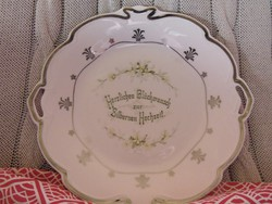 2 db szecessziós porcelán kínáló
