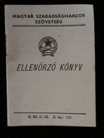 Magyar Szabadságharcos Szövetség Ellenőrző Könyv 1952