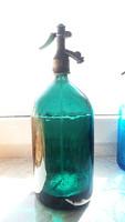 Régi nagy zöld szódásüveg 2 literes