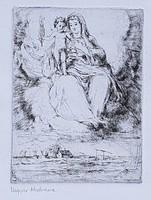 Komjáti Wanyerka Gyula - Magyar Madonna 17 x 12 cm rézkarc