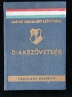 Diákszövetség Tagsági Könyv 1949