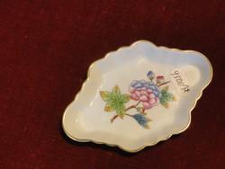 Herendi porcelán Viktória mintás tálka, jelzése: 7737/VBO.