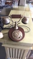 Antik tárcsát telefon fából
