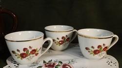 Zsolnay teás csészék 2 db, a harmadik ingyen
