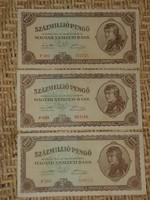 SZÁZMILLIÓ 100 MILLIÓ 100000000 PENGŐ 1946  3 DB !!!