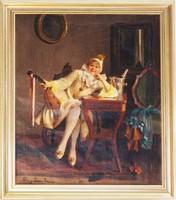 Pap Emil (1844-1955) - Női Harlequin