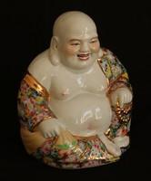 Antik, kínai porcelán Buddha szobor