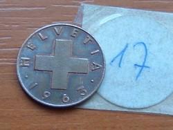 SVÁJC 1 RAPPEN 1963 B 17.