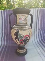 Görög mintás füles váza