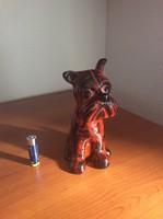 Retro Kertész Klára kerámia kutya ( snaucer )