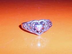Szív mint. Tibeti ezüst Régi gyűrű 8-as